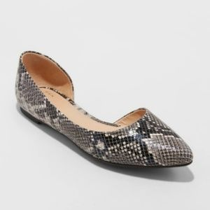 Shoes - NWOT A New Day snake print flats